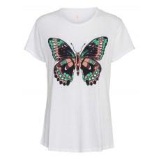 Costamani Tshirt m Sommerfugl