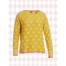 du Milde Laura Yellow Heart bluse