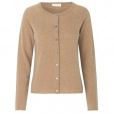 Rosemunde cashmere cardigan Indian Tan Melange